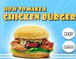 фънски игра Направи пилешки бургер