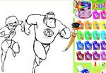 фънски игра Оцвети героите