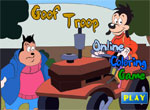 фънски игра Goof Troop Online Coloring Game