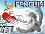 разни игра Пингвин срещу Йети