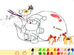 фънски игра Оцвети Дядо Коледа